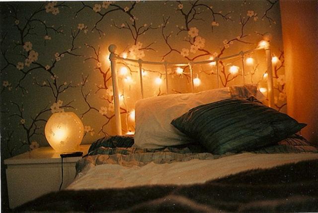 Inspira o decora o do quarto com luzes de natal - Tumblr lichterkette ...