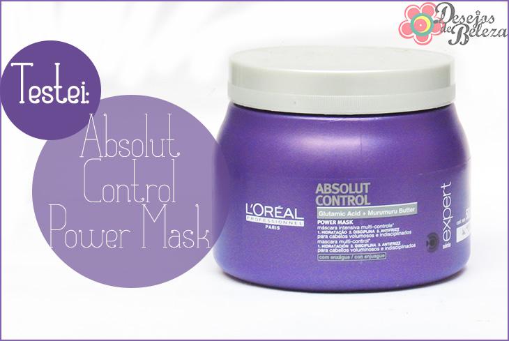 Testei: Absolut Control Power Mask L'Oréal Professionnel