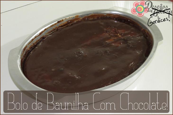 Receitas: Bolo de Baunilha com Chocolate – Desejos de Gordices