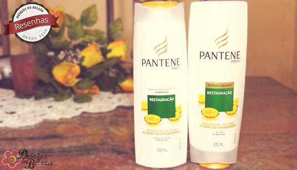 Testei: Pantene Restauração – Shampoo e Condicionador