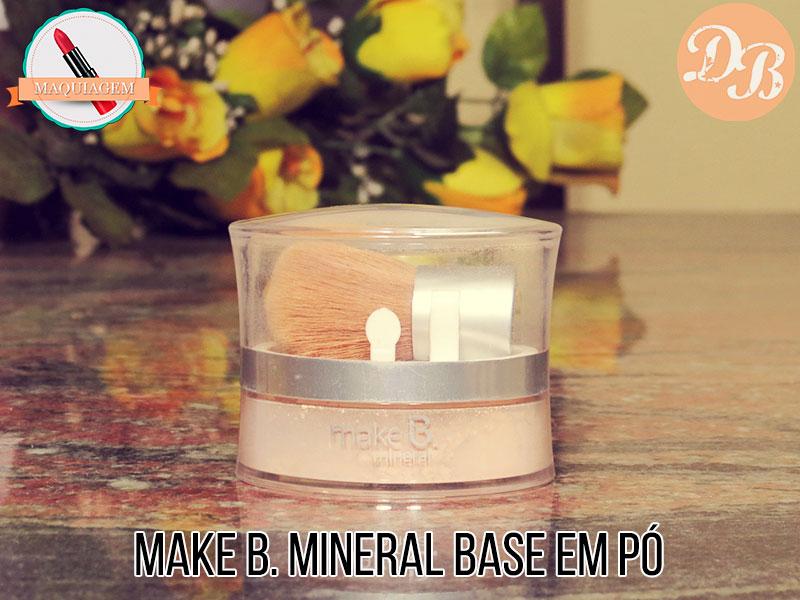 Make B. Mineral Base em Pó O Boticário