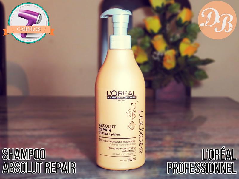 0ce8385fb Testei: Shampoo Absolut Repair Cortex Lipidium L'Oréal Professionnel ...