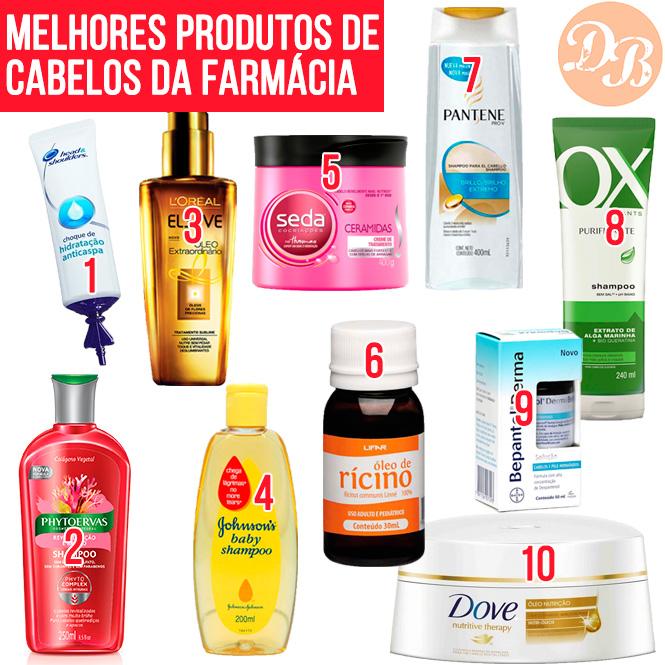29f86e74f Os 10 melhores produtos de cabelo da farmácia! - Desejos de Beleza
