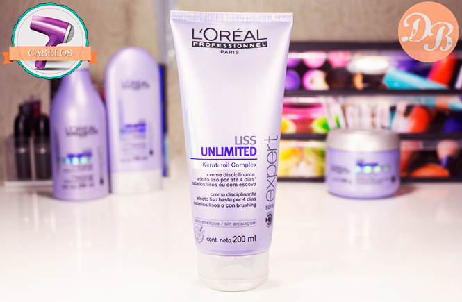Testei: Liss Unlimited L'Oréal Professionnel – Creme Disciplinante
