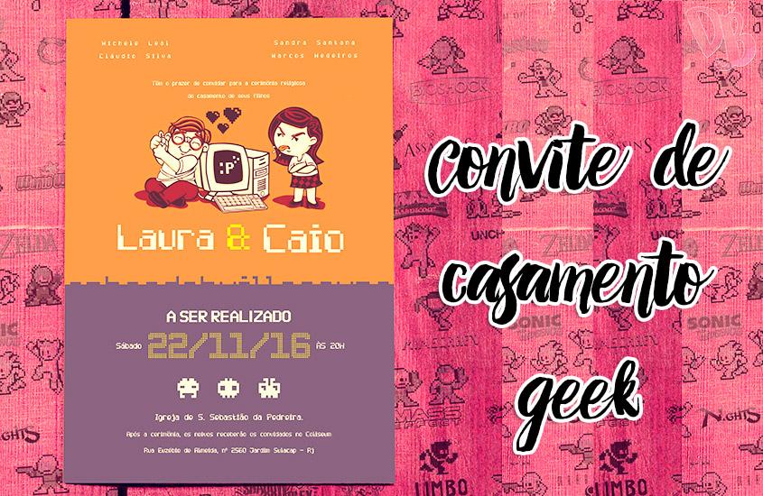 Convite de casamento geek – #manuvaicasar